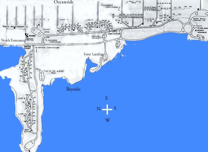 Assateague Island Camping Map Assateague Island National Seashore   Camping Map